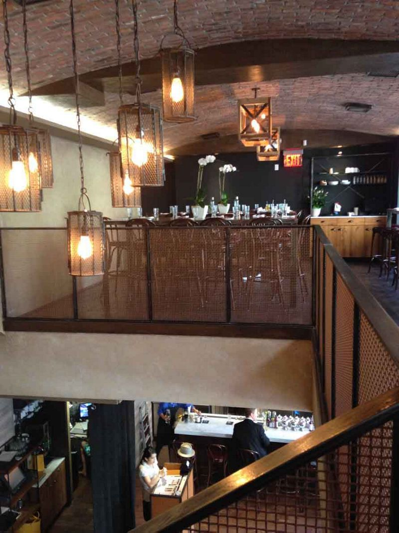 For restaurant balcony railings, Wire Mesh Infills establish a rustic, upscale look.