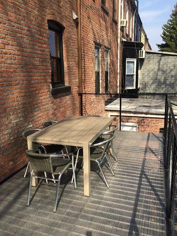 McNICHOLS Bar Grating used as deck flooring on a balcony in Brooklyn, NY
