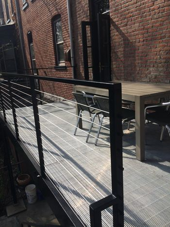 Bar Grating by McNICHOLS applied as flooring on this balcony in Brooklyn, NY