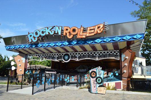 McNICHOLS Designer Textured Metal signage at a Charlotte, NC amusement park