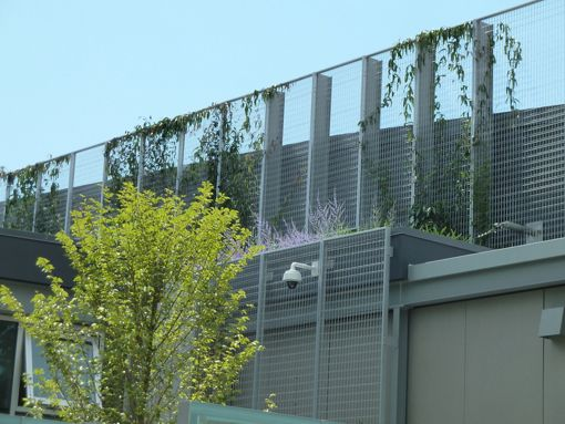 McNICHOLS ECO-MESH is applied as a living wall building facade at a facility in Seattle, WA