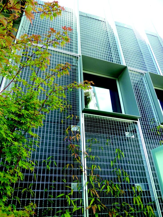 McNICHOLS ECO-MESH brings life to the exterior of an exhibition facility in Seattle, WA
