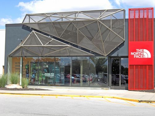 McNICHOLS Expanded Metal is used as a building facade in Indianapolis, IN