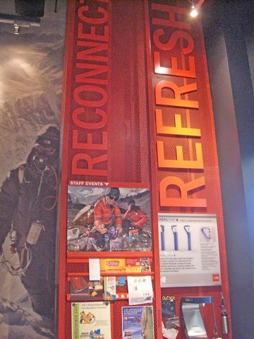 An Indianapolis, IN area retail store uses McNICHOLS Expanded Metal to display important information