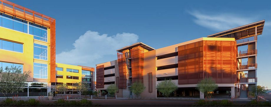 McNICHOLS Expanded Metal shown as a building facade in Scottsdale, AZ