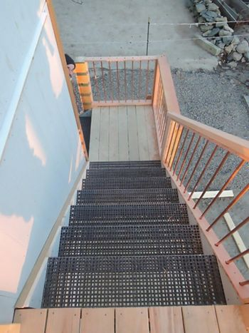 McNICHOLS Fiberglass Grating applied as Stair Treads in Little Compton, RI