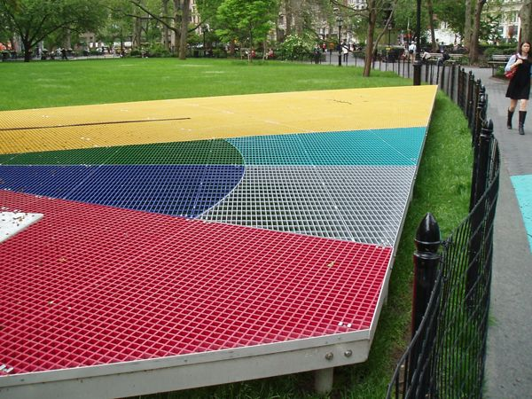 McNICHOLS Fiberglass and Bar Grating on display in a New York, NY park