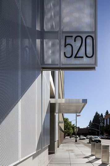 McNICHOLS Perforated Metal applied as a building facade in Santa Rosa, CA