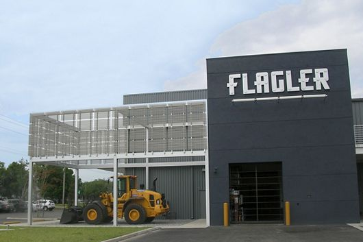 McNICHOLS Corrugated Perforated Metal applied as a building facade in Tampa, FL