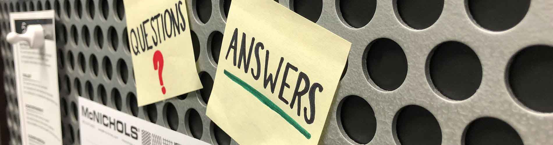 Frequently Asked Questions | McNICHOLS®