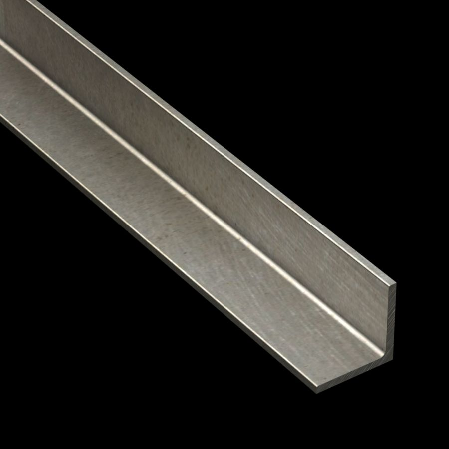 "McNICHOLS® Accessories Angle, Carbon Steel, Hot Rolled, 1/8"" Gauge (.1250"" Thick), 90° Angle, Equal Legs (1-1/4"" Leg x 1-1/4"" Leg)"