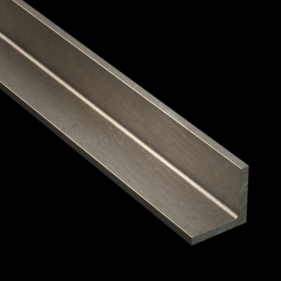 "McNICHOLS® Accessories Angle, Carbon Steel, 1/4"" Gauge (.2500"" Thick), Angle (1-3/4"" Leg x 1-3/4"" Leg)"