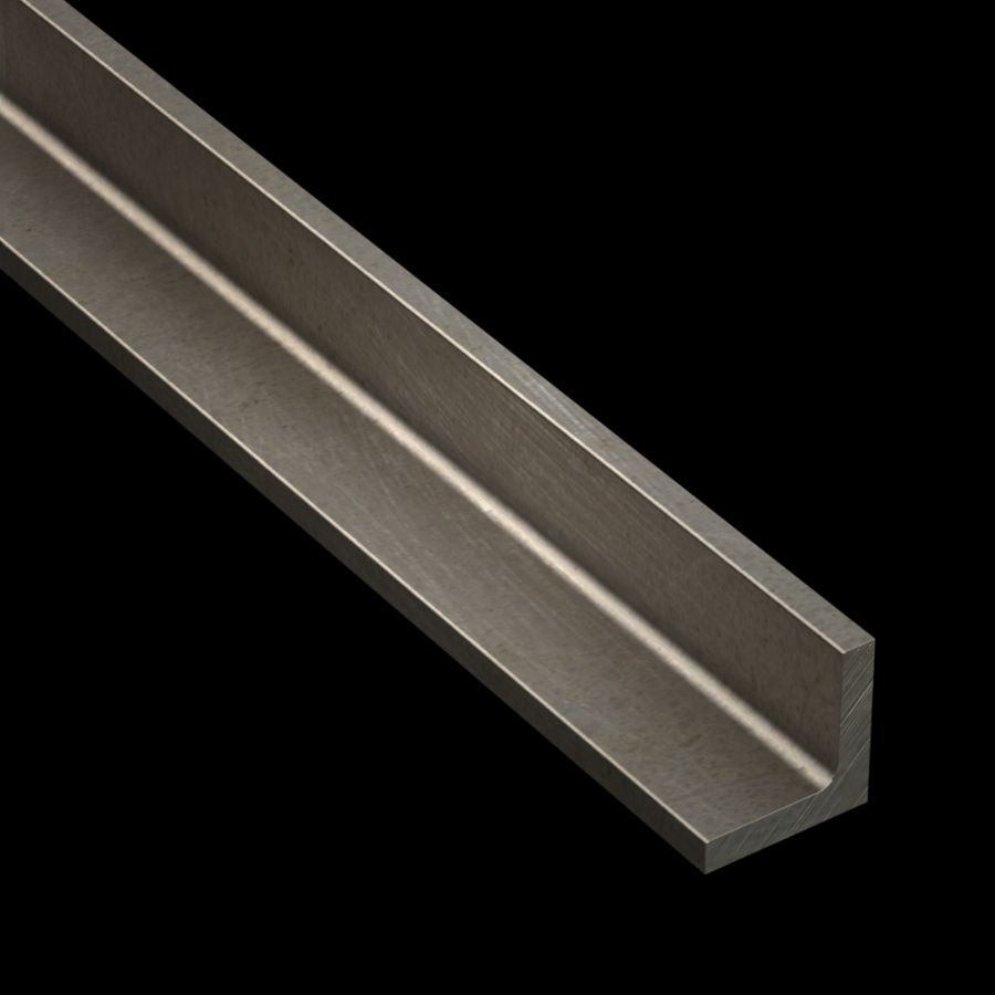 "McNICHOLS® Accessories Angle, Carbon Steel, Hot Rolled, 1/4"" Gauge (.2500"" Thick), 90° Angle, Equal Legs (1-1/4"" Leg x 1-1/4"" Leg)"
