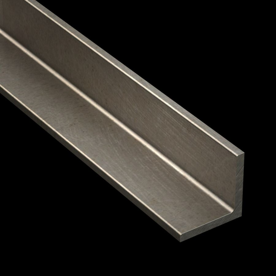"McNICHOLS® Accessories Angle, Carbon Steel, Hot Rolled, 1/4"" Gauge (.2500"" Thick), Angle (2"" Leg x 2"" Leg)"