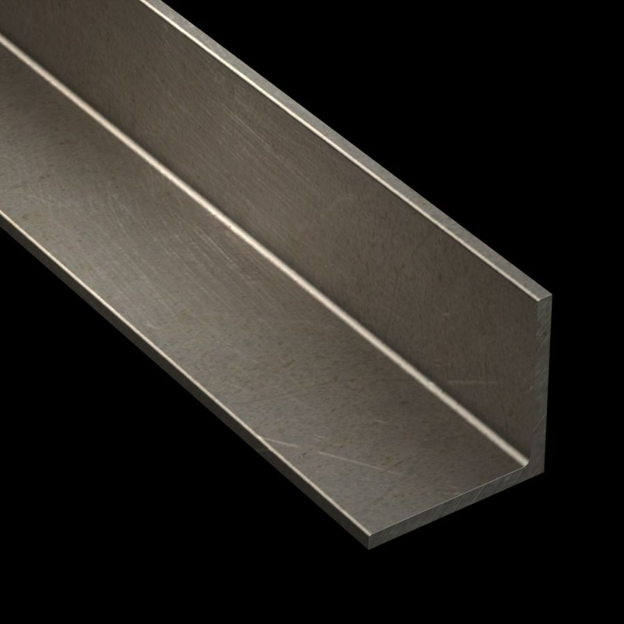 "McNICHOLS® Accessories Angle, Carbon Steel, Hot Rolled, 1/4"" Gauge (.2500"" Thick), 90° Angle, Equal Legs (3"" Leg x 3"" Leg)"