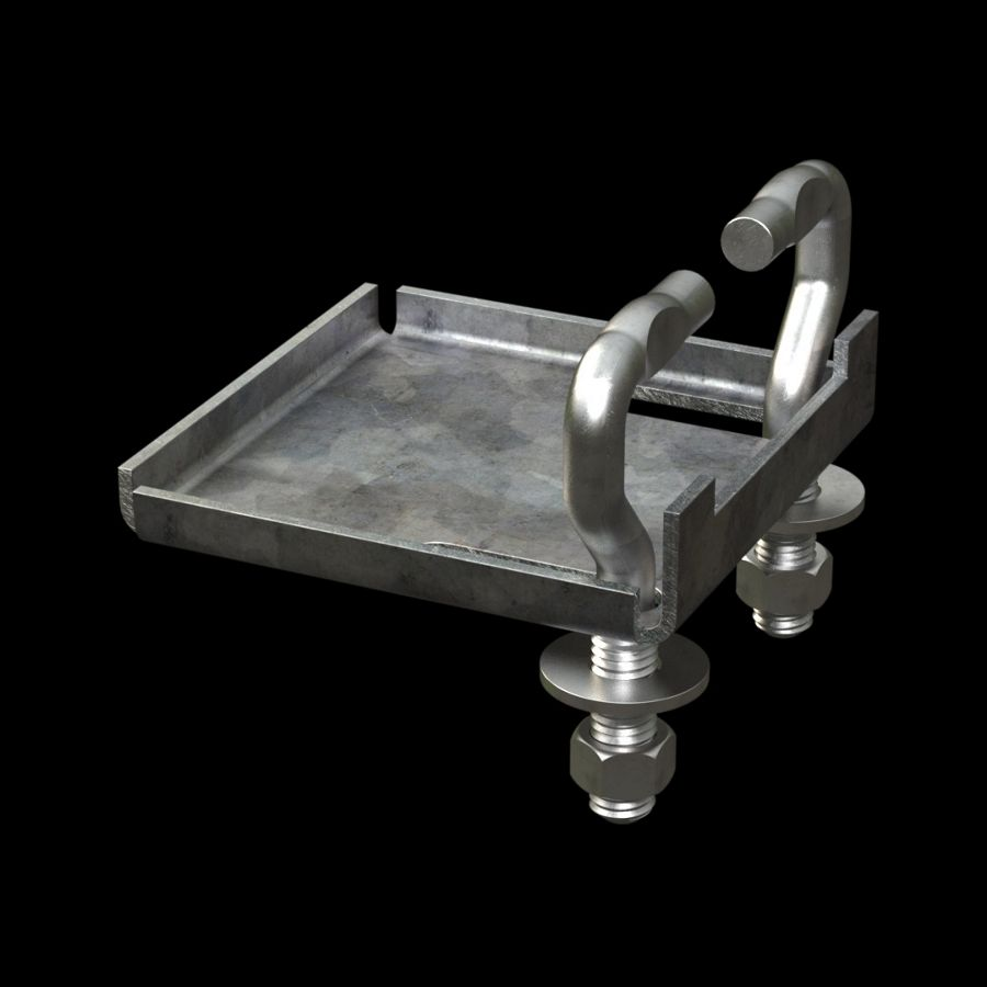 McNICHOLS® Accessories Fastener, Galvanized, G90, Type ACA-20 Anchor and Clamp Assembly (Hardware Integral with Assembly)