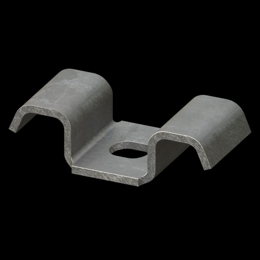 McNICHOLS® Accessories Fastener, Galvanized Steel, Hot Dipped, Type CB Saddle Clip (Hardware Available Separately)