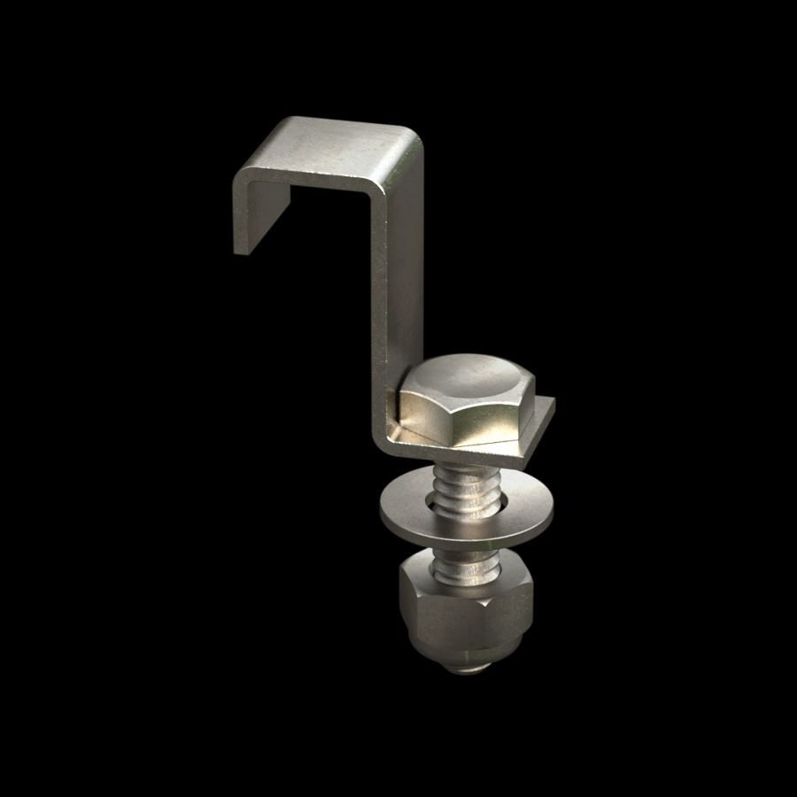 McNICHOLS® Accessories Fastener, Stainless Steel, Type J1 Hold-Down Clip (Hardware Integral with Hold-Down Clip)