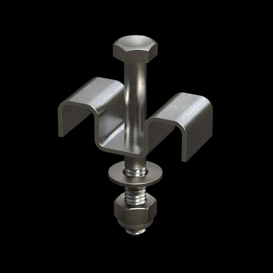 McNICHOLS® Accessories Fastener, Stainless Steel, Type 316, Type M1 Saddle Clip (Hardware Integral with Saddle Clip)