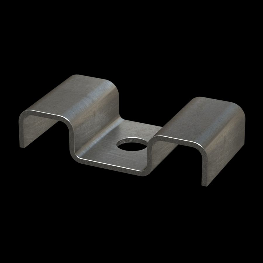 McNICHOLS® Accessories Fastener, Stainless Steel, Type 316, Type M2 Saddle Clip (Hardware Available Separately)