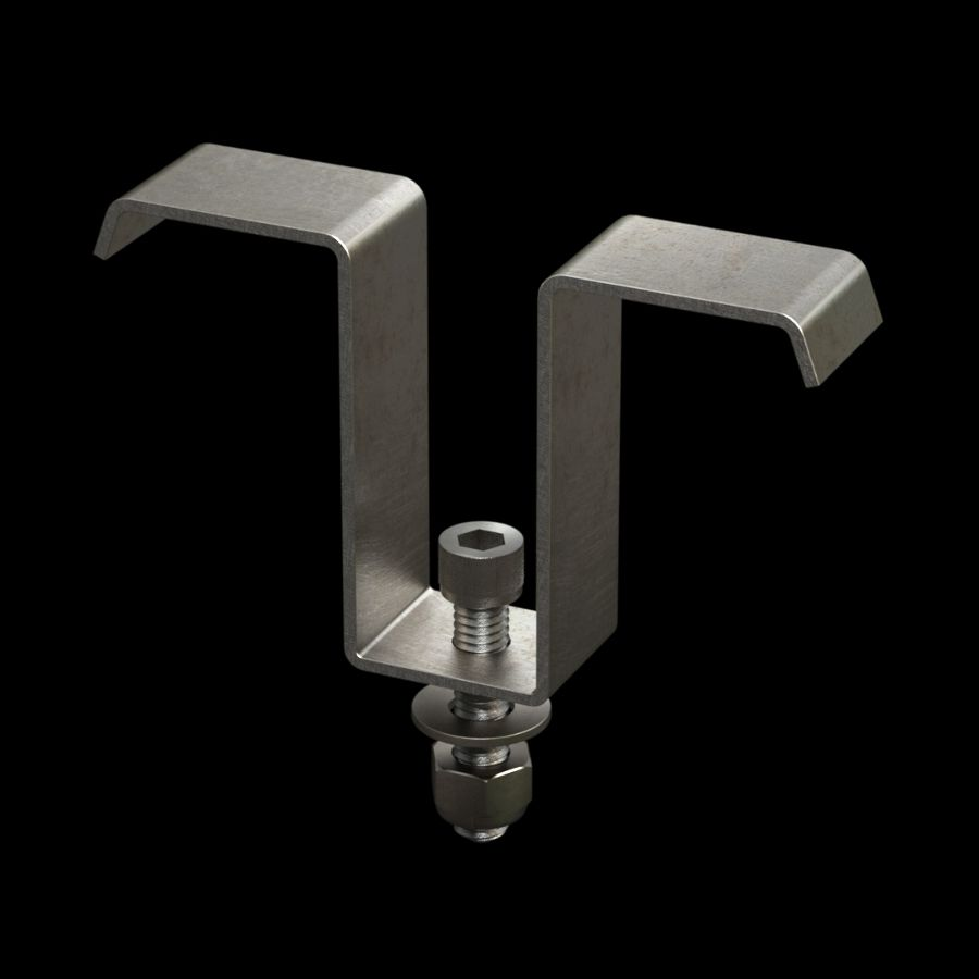 McNICHOLS® Accessories Fastener, Stainless Steel, Type MT-5020 Saddle Clip (Hardware Integral with Saddle Clip)