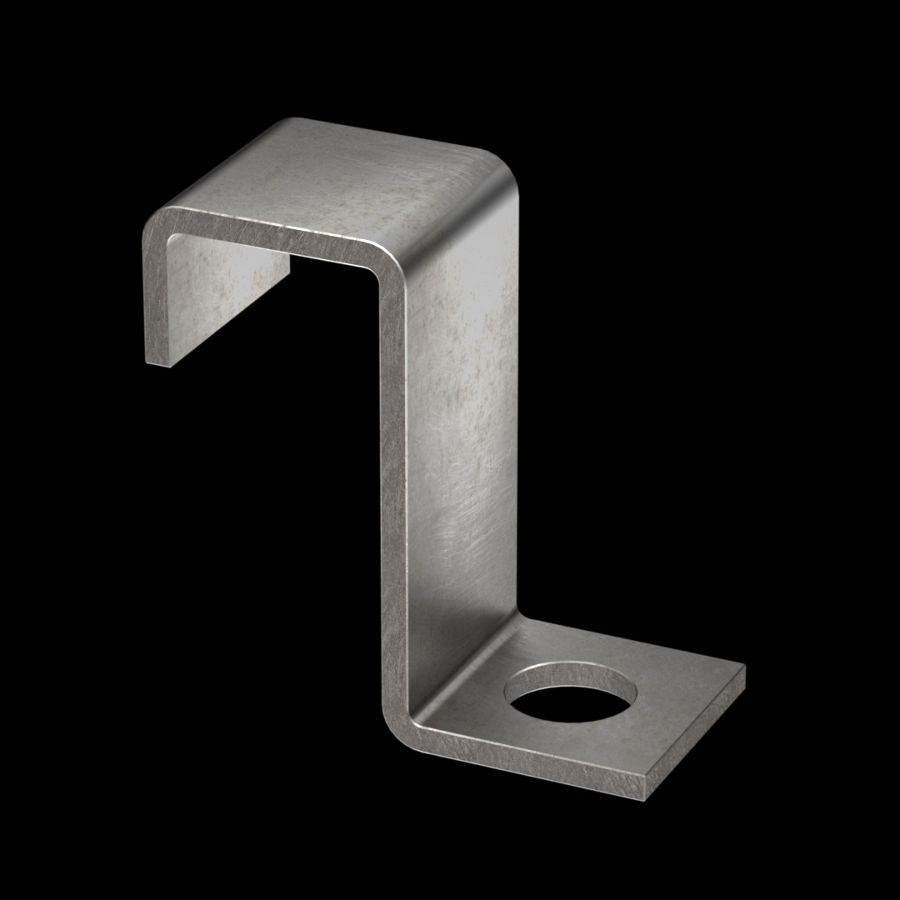 McNICHOLS® Accessories Fastener, Stainless Steel, Type 304, Type Z1 Hold-Down Clip (Hardware Available Separately)