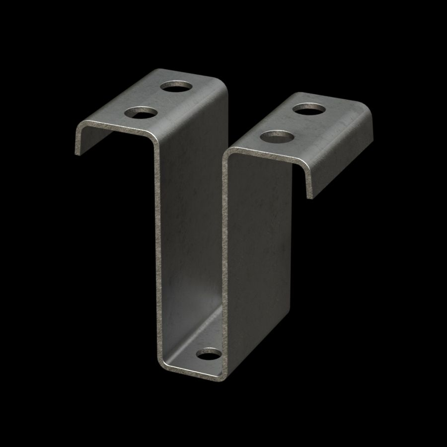 McNICHOLS® Accessories Fastener, Galvanized Steel, Hot Dipped, Type MHC-25 Hold-Down Clamp (Hardware Available Separately)