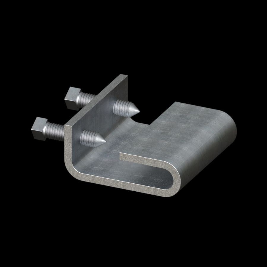 McNICHOLS® Accessories Fastener, Galvanized Steel, Pre-Galvanized, Mid-Support Clip (Hardware Integral with Mid-Support Clip)