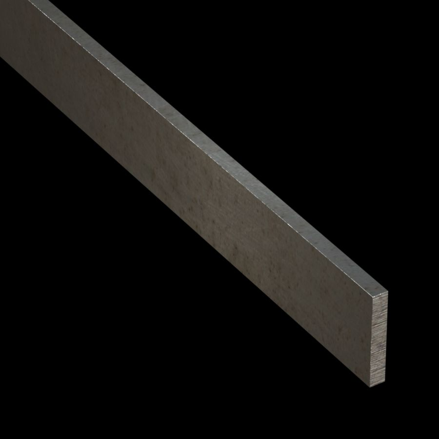 "McNICHOLS® Accessories Flat Bar, Carbon Steel, Hot Rolled, 1/4"" Gauge (.2500"" Thick), Flat Bar (1-1/2"" Width)"