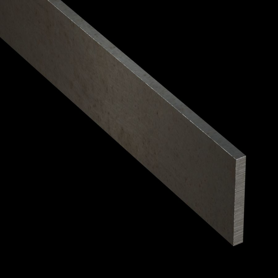 "McNICHOLS® Accessories Flat Bar, Carbon Steel, Hot Rolled, 1/4"" Gauge (.2500"" Thick), Flat Bar (2-1/4"" Width)"