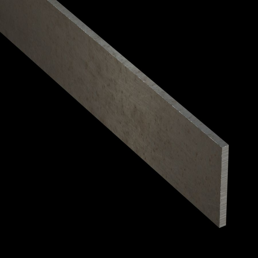 "McNICHOLS® Accessories Flat Bar, Carbon Steel, 3/16"" Gauge (.1875"" Thick), Flat Bar (2-1/4"" Width)"