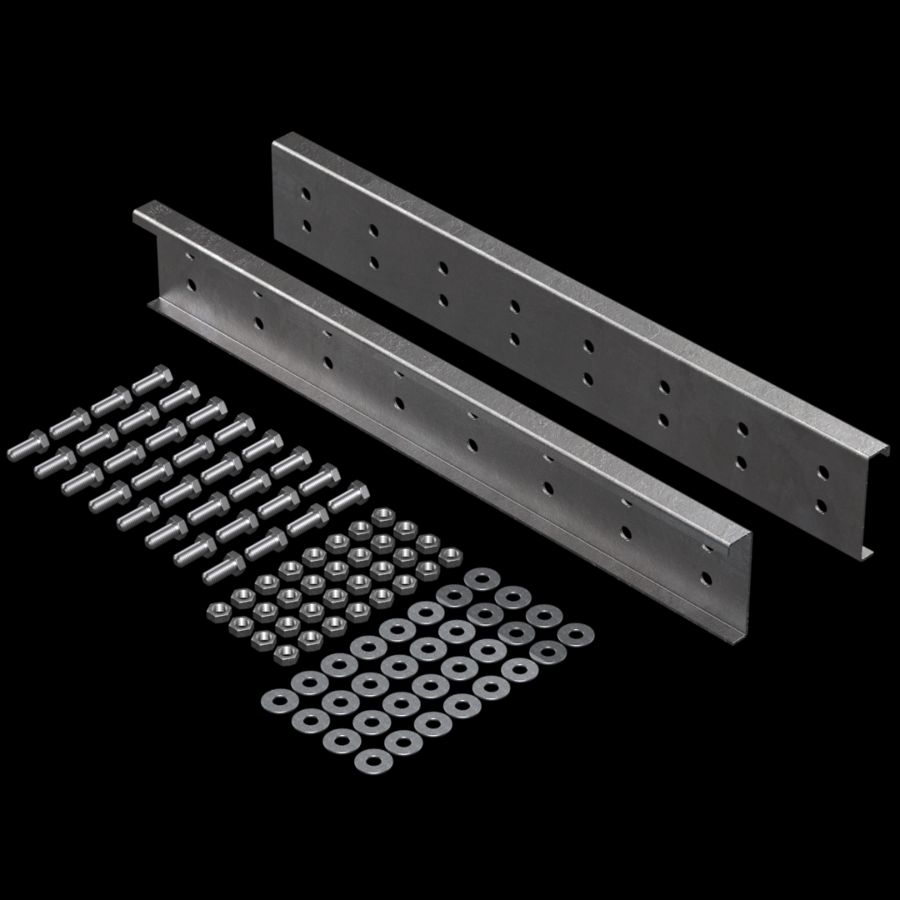 "McNICHOLS® Accessories Splice Plate Kit, Galvanized Steel, Pre-Galvanized, 12 Gauge (.1084"" Thick), SP-10DU-30 Splice Plate Kit (4-1/2"" Height x 30"" Width), Hardware Integral with Splice Plate Kit"