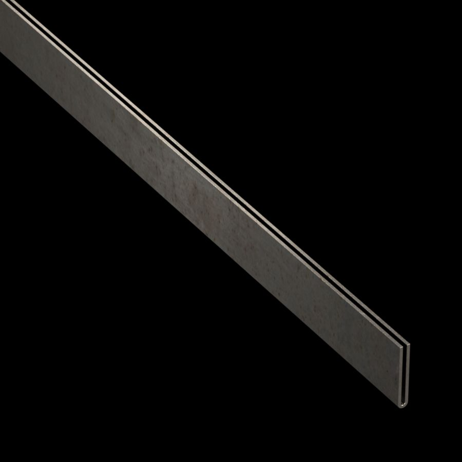 "McNICHOLS® Accessories U-Edging, Carbon Steel, Cold Rolled, 18 Gauge (.0478"" Thick), Type 403 U-Edging (1/16"" Opening x 1"" Width)"