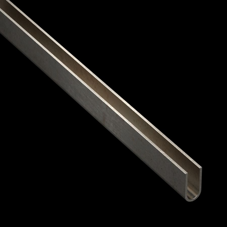 "McNICHOLS® Accessories U-Edging, Carbon Steel, Hot Rolled, 14 Gauge (.0747"" Thick), Type 438 U-Edging (3/8"" Opening x 1"" Width)"
