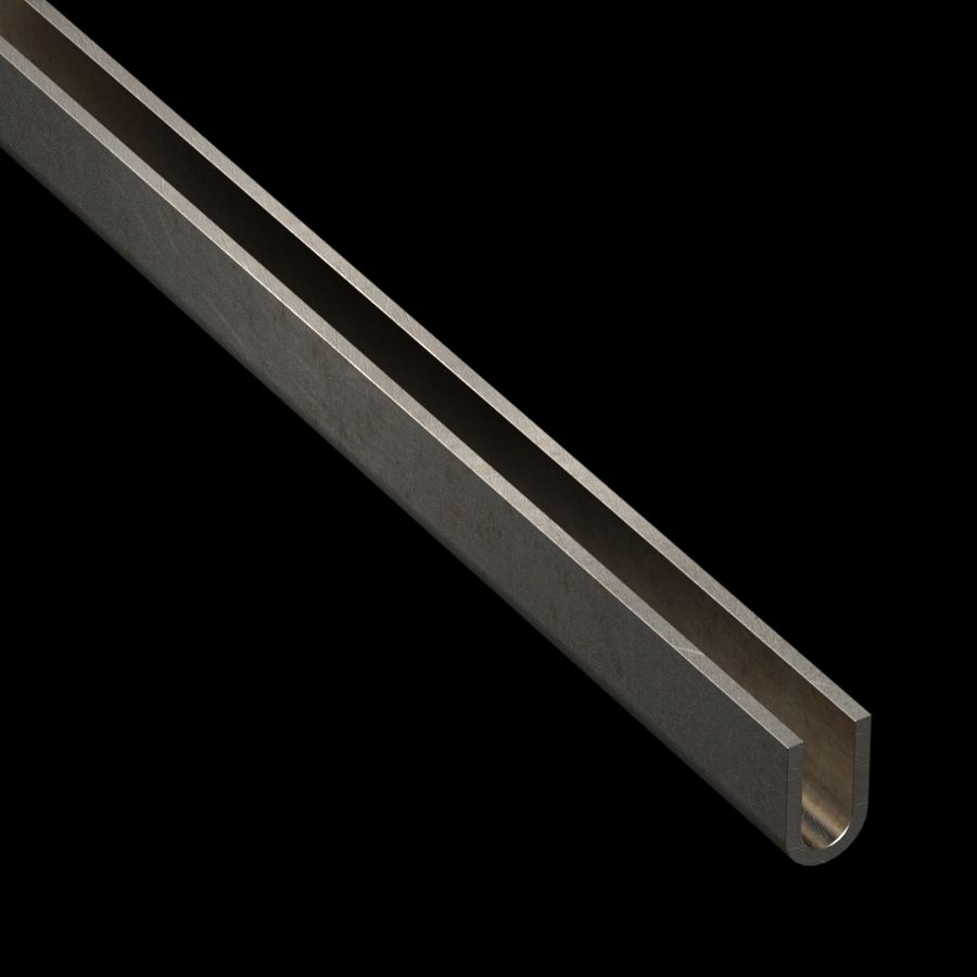 "McNICHOLS® Accessories U-Edging, Carbon Steel, 11 Gauge (.1196"" Thick), Type 438 U-Edging (3/8"" Opening x 1"" Width)"