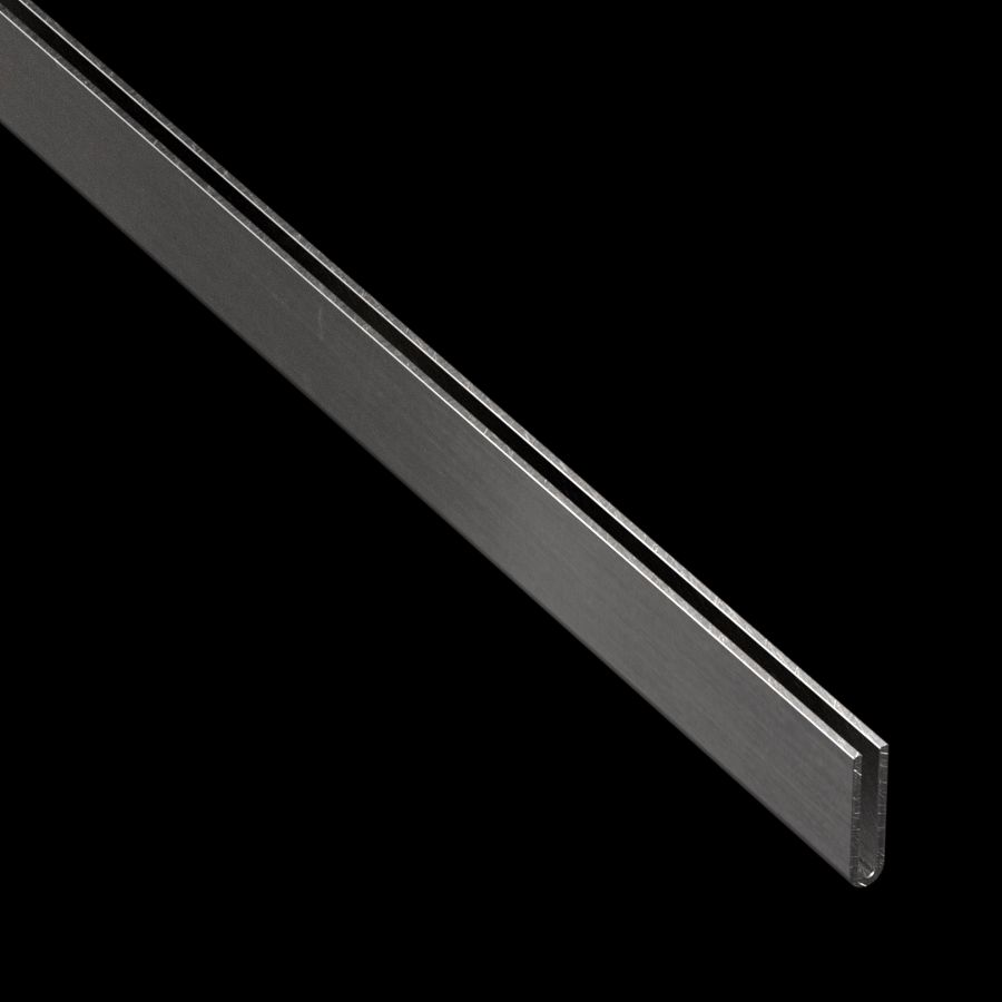 "McNICHOLS® Accessories U-Edging, Aluminum, Alloy 3003-H14, .0630"" Thick (14 Gauge), Type 402 U-Edging (1/8"" Opening x 1"" Width)"