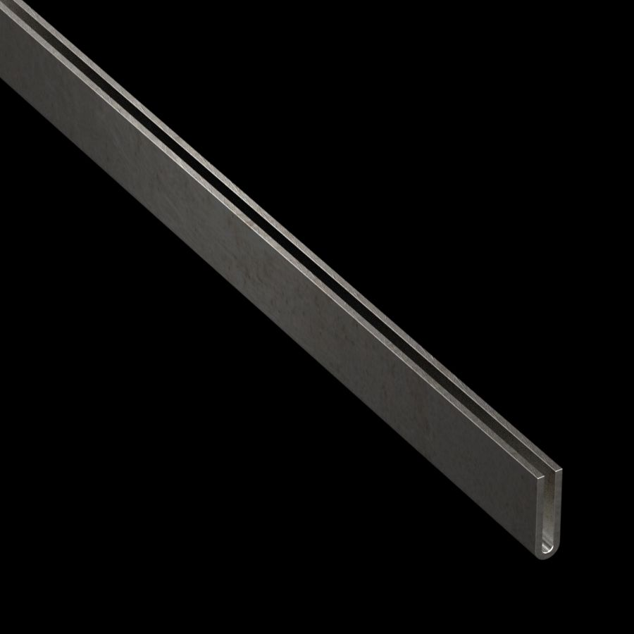 "McNICHOLS® Accessories U-Edging, Stainless Steel, Type 304, 14 Gauge (.0781"" Thick), Type 402 U-Edging (1/8"" Opening x 1"" Width)"