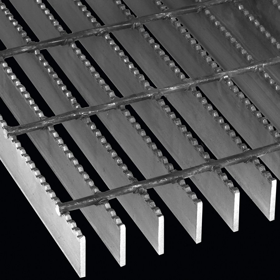 "McNICHOLS® Bar Grating Heavy-Duty Welded, GHB-150, 19-W-4 Spacing, Carbon Steel, Hot Rolled, 1-1/2"" x 1/4"" Rectangular Bar, Serrated Surface, 72% Open Area"