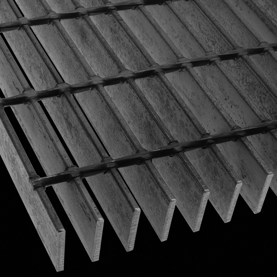 "McNICHOLS® Bar Grating Heavy-Duty Welded, Rectangular Bar, GHB-200, 19-W-4 Spacing, Carbon Steel, Hot Rolled, 2"" x 1/4"" Rectangular Bar, Smooth Surface, 72% Open Area"