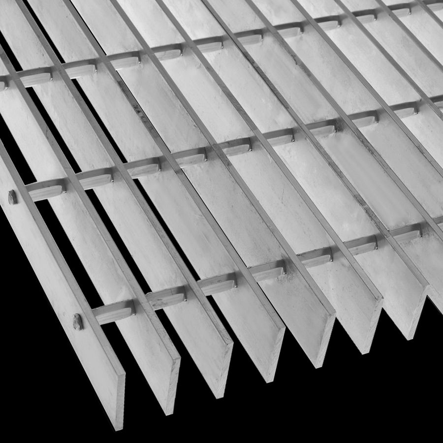 "McNICHOLS® Bar Grating Swage-Locked, Rectangular Bar, GAL-175, 19-S-4 Spacing, Aluminum, Alloy 6063-T6, 1-3/4"" x 3/16"" Rectangular Bar, Smooth Surface, 77% Open Area"