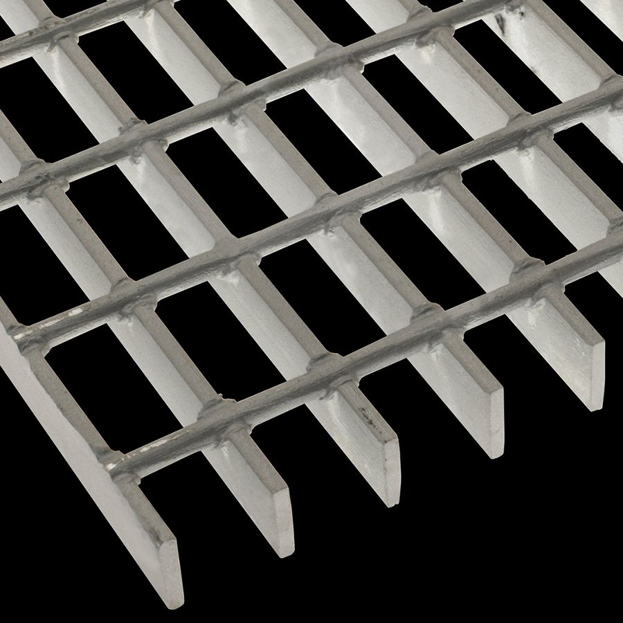 "McNICHOLS® Bar Grating Welded, Rectangular Bar, GW-100-2, 19-W-2 Spacing, Galvanized Steel, Hot Dipped, 1"" x 3/16"" Rectangular Bar, Smooth Surface, 71% Open Area"
