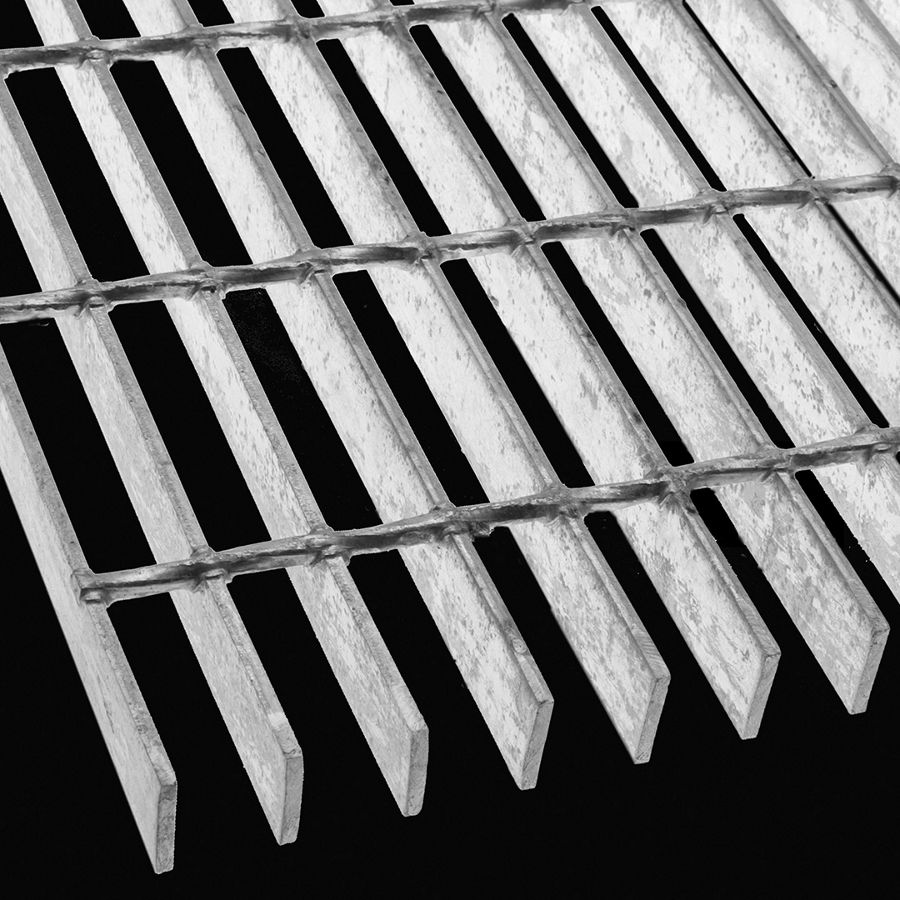 "McNICHOLS® Bar Grating Welded, Rectangular Bar, GW-125, 19-W-4 Spacing, Galvanized Steel, Hot Dipped, 1-1/4"" x 3/16"" Rectangular Bar, Smooth Surface, 77% Open Area"