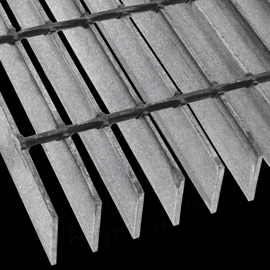 "McNICHOLS® Bar Grating Welded, GW-200, 19-W-4 Spacing, Galvanized, 2"" x 3/16"" Rectangular Bar, Smooth Surface, 77% Open Area"