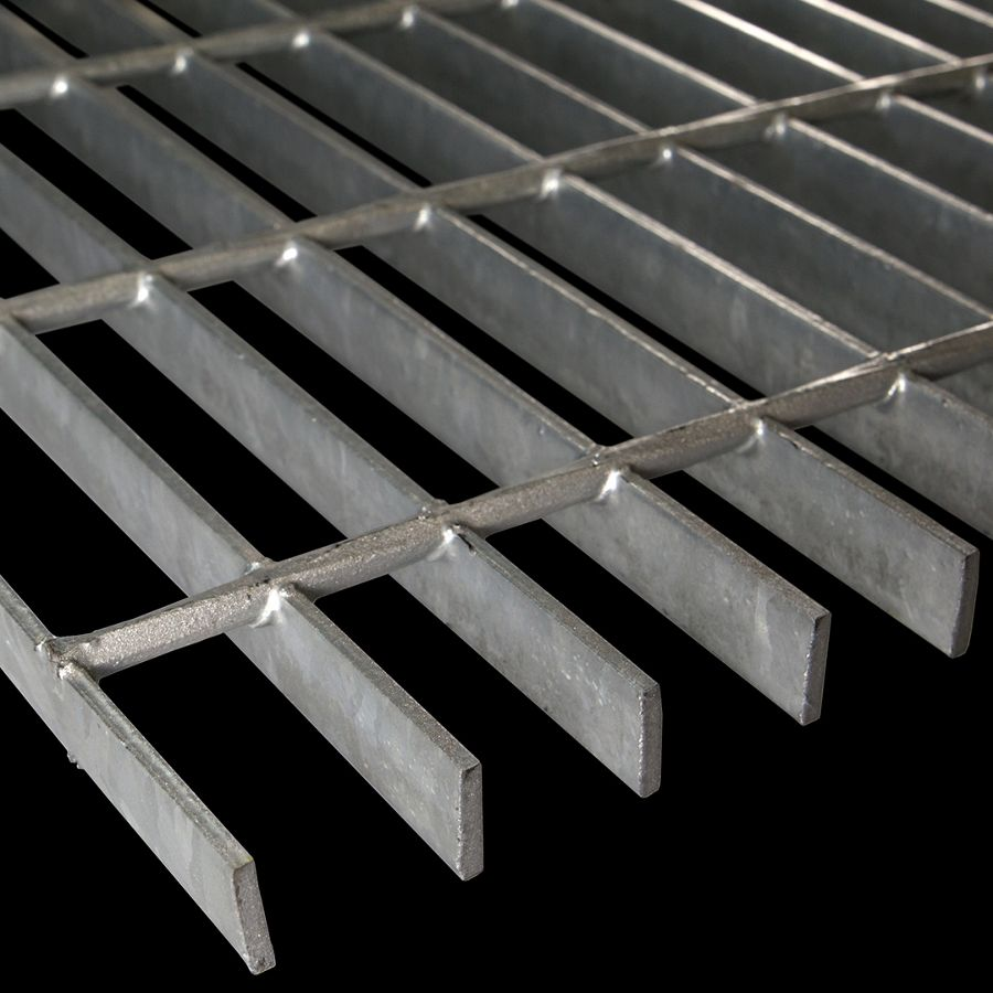 "McNICHOLS® Bar Grating Welded, Rectangular Bar, GW-75-A, 19-W-4 Spacing, Galvanized Steel, Hot Dipped, 3/4"" x 1/8"" Rectangular Bar, Smooth Surface, 83% Open Area"