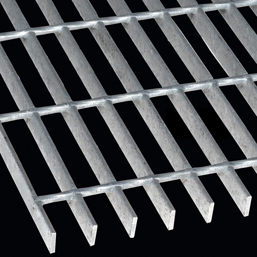 "McNICHOLS® Bar Grating Welded, Rectangular Bar, GW-75, 19-W-4 Spacing, Galvanized Steel, Hot Dipped, 3/4"" x 3/16"" Rectangular Bar, Smooth Surface, 77% Open Area"