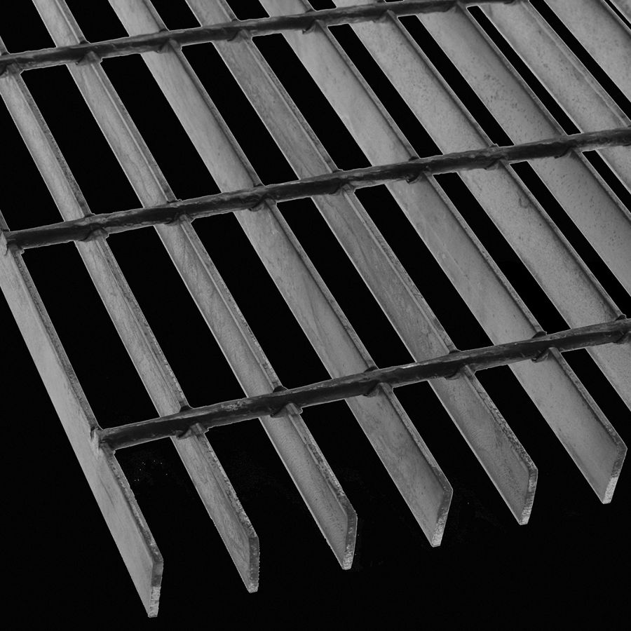 "McNICHOLS® Bar Grating Welded, Rectangular Bar, GW-100-A, 19-W-4 Spacing, Carbon Steel, Hot Rolled, 1"" x 1/8"" Rectangular Bar, Smooth Surface, 83% Open Area"