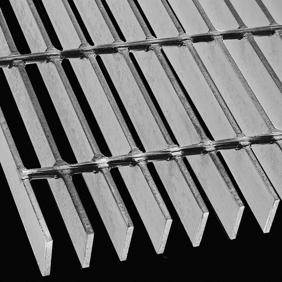 "McNICHOLS® Bar Grating Welded, Rectangular Bar, SGW-100, 15-W-4 Spacing, Carbon Steel, Hot Rolled, 1"" x 3/16"" Rectangular Bar, Smooth Surface, 74% Open Area"