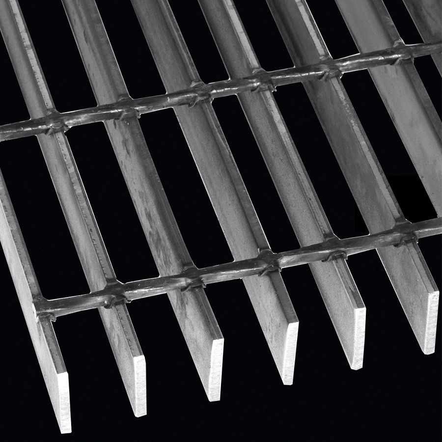 "McNICHOLS® Bar Grating Welded, Rectangular Bar, GW-150, 19-W-4 Spacing, Carbon Steel, Hot Rolled, 1-1/2"" x 3/16"" Rectangular Bar, Smooth Surface, 77% Open Area"