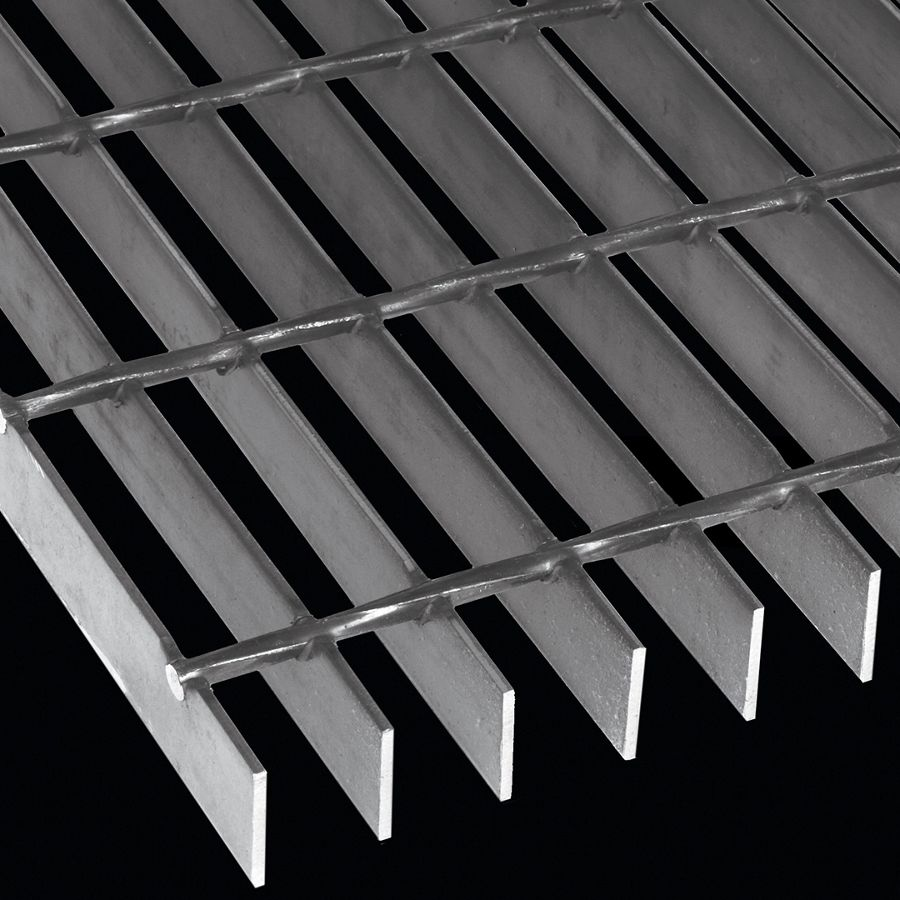 "McNICHOLS® Bar Grating Welded, Rectangular Bar, GW-125-A, 19-W-4 Spacing, Carbon Steel, Hot Rolled, 1-1/4"" x 1/8"" Rectangular Bar, Smooth Surface, 83% Open Area"