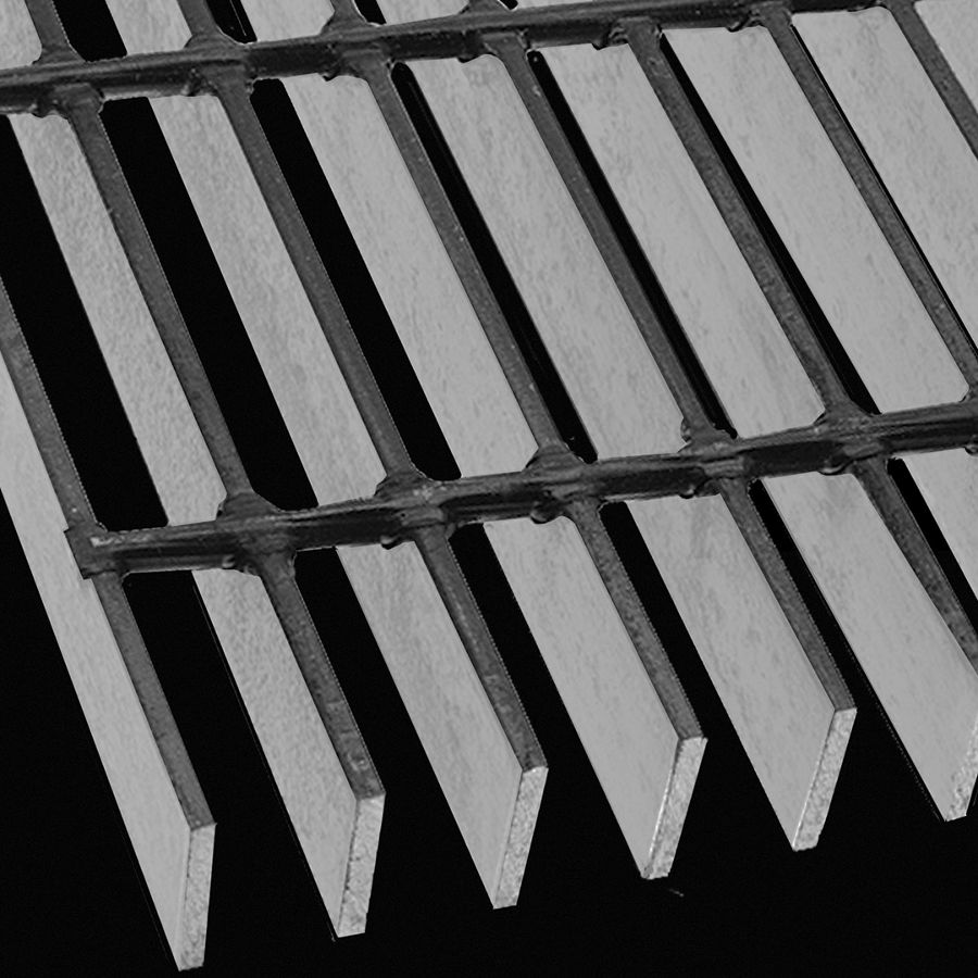 "McNICHOLS® Bar Grating Welded, SGW-125, 15-W-4 Spacing, Carbon Steel, Hot Rolled, 1-1/4"" x 3/16"" Rectangular Bar, Smooth Surface, 74% Open Area"